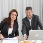 Bertine Blom en Huub van den Berg